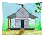 Cracker Cabin Drawing Tapestry