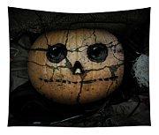 Creepy Halloween Pumpkin Tapestry