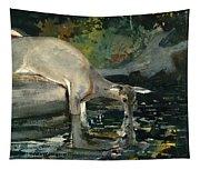 Deer Drinking Tapestry