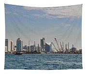 Dubai Creek And Abra Boats Tapestry