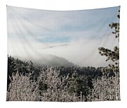 Frosty Pikes Peak Tapestry