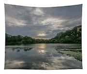 Granite Basin Lake Sunset Tapestry