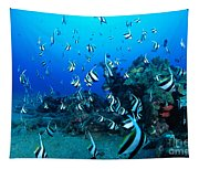 Hawaiian Reef Scene Tapestry