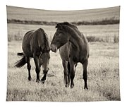 Horses Of The Fall  Bw Tapestry