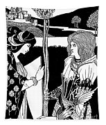 How Morgan Le Fay Gave A Shield To Sir Tristran Tapestry
