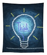 Light Bulb Design Tapestry