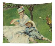 Madame Monet And Her Son Tapestry