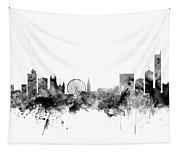 Manchester England Skyline Tapestry