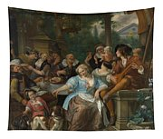 Merry Company On A Terrace Tapestry