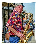 New Orleans Jazz Sax  Tapestry