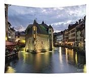 Palais De L'isle And Thiou River In Annecy Tapestry
