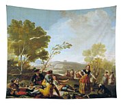 Picnic On The Banks Of The Manzanares Tapestry