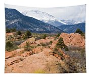 Pikes Peak From Red Rocks Canyon Tapestry