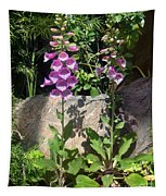 2 Pink Bell Flowers. Foxglove Tapestry
