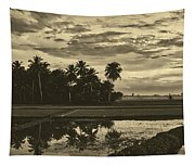Rice Field Sunrise - Indonesia Tapestry