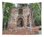 Ruins Of The Baroque Chapel Of Saint Mary Magdalene Tapestry