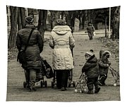 Small Child Looking Backward Tapestry