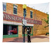Standing On The Corner - Winslow Arizona Tapestry