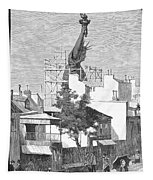 Statue Of Liberty, 1884 Tapestry