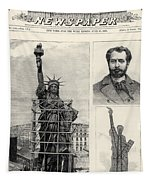 Statue Of Liberty, 1885 Tapestry
