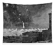 Statue Of Liberty, 1886 Tapestry