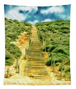 Steps To The Beach Tapestry