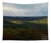 Storm Clouds Over Fall Nature Scenery Tapestry