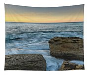 Sunrise On The Rocky Coast Tapestry