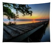Sunrise Over Cayuga Lake Tapestry
