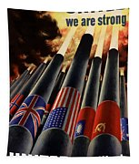 The United Nations Fight For Freedom Tapestry by War Is Hell Store