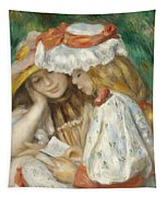Two Girls Reading Tapestry