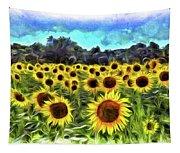 Van Gogh Sunflowers Tapestry