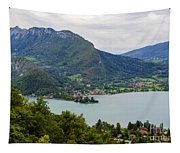 Village Of Talloires On The Banks Of Lake Annecy Tapestry