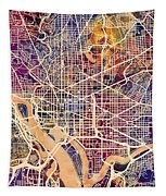 Washington Dc Street Map Tapestry
