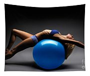 Woman On A Ball Tapestry