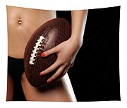 Woman With A Football Tapestry