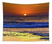 Sunrise Seascape And Rock Platform Tapestry
