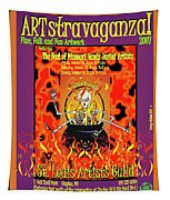 2007 Artstravaganza Poster Skeleton In Pot A Tapestry