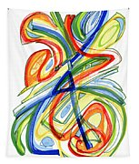 2010 Abstract Drawing Eight Tapestry