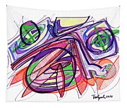 2010 Abstract Drawing Eleven Tapestry