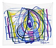 2010 Abstract Drawing Nineteen Tapestry