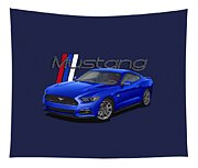 2015 Blue Mustang Tapestry