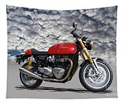 2016 Triumph Cafe Racer Motorcycle Tapestry
