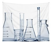 Laboratory Equipment In Science Research Lab Tapestry