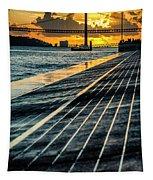 25 De Abril Bridge In Lisbon. Tapestry