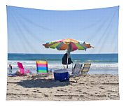 A Day At The Beach Tapestry
