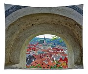 A View Of Cesky Krumlov In The Czech Republic Tapestry