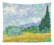 A Wheatfield With Cypresses Tapestry