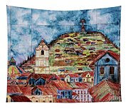 Artisan Market In Quito Tapestry