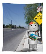 Back To School Little Robox9 Tapestry